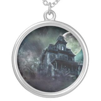 The Haunted House Paranormal Round Pendant Necklace