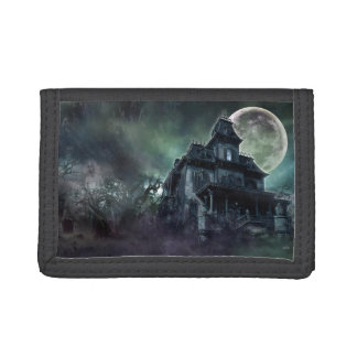 The Haunted House Paranormal Tri-fold Wallet