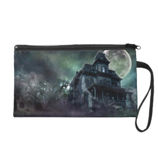 The Haunted House Paranormal Wristlet Purse