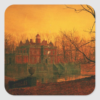 The Haunted House Square Sticker
