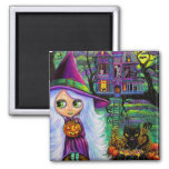 The Haunted Treehouse 2 Inch Square Magnet