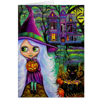 The Haunted Treehouse Halloween Card