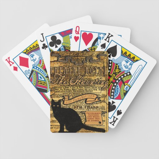 The Haunting Bicycle Poker Cards