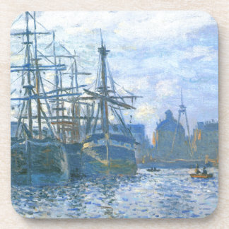 The Havre, the trade bassin by Claude Monet Coaster