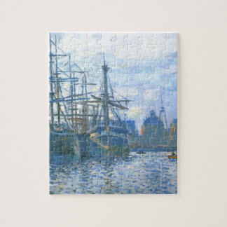 The Havre, the trade bassin by Claude Monet Puzzle