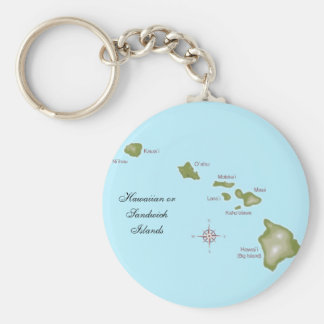 The Hawaiian Islands Keychain