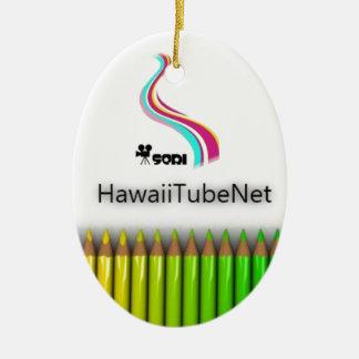 The Hawaiian tube net official item Ceramic Ornament