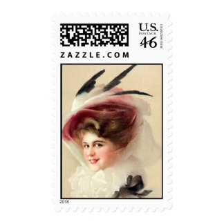 The Hawk Feathered Hat Postage