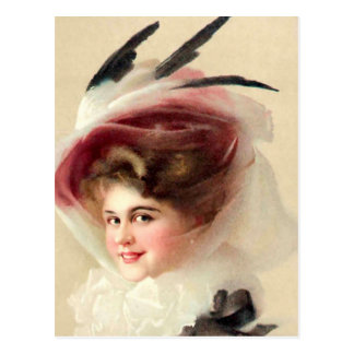 The Hawk Feathered Hat Postcards