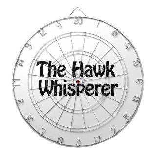 the hawk whisperer dartboard with darts