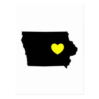 The Hawkeye State - Love Postcard