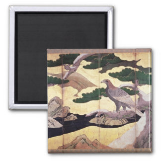 The Hawks in the Pines, 6 panel folding screen Magnet