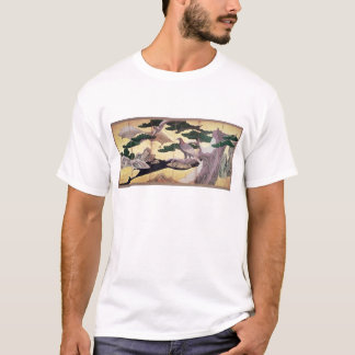 The Hawks in the Pines, 6 panel folding screen T-Shirt