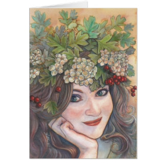 The Hawthorn Queen. Card