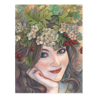 The Hawthorn Queen. Postcard