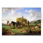 The Hay Harvest, 1869 Card