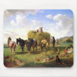 The Hay Harvest, 1869 Mouse Pad