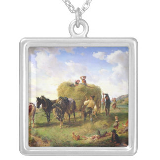 The Hay Harvest, 1869 Silver Plated Necklace