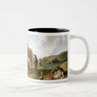 The Hay Harvest, 1869 Two-Tone Coffee Mug