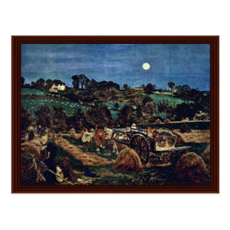 The Hay Harvest By Brown Ford Madox Postcard