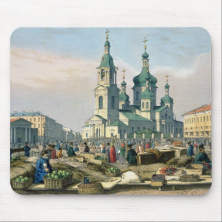 The Hay Square in St. Petersburg, c.1840 Mouse Pad
