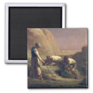 The Hay Trussers, 1850-51 2 Inch Square Magnet