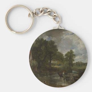 The Hay Wain Basic Round Button Keychain