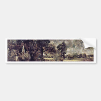 The Hay Wain Study By John Constable (Best Quality Car Bumper Sticker