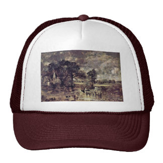The Hay Wain Study By John Constable (Best Quality Mesh Hat