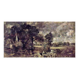 The Hay Wain Study By John Constable Best Quality Personalized Photo Card