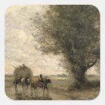 The Haycart, c. 1860 Square Sticker