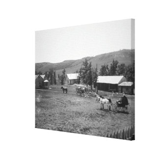 The Haylie Ranch, Crook County, Wyoming, c.1890 (b Canvas Print