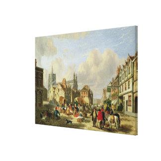The Haymarket, Norwich, 1825 (oil on panel) Canvas Print