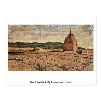 The Haystack By Giovanni Fattori Postcard