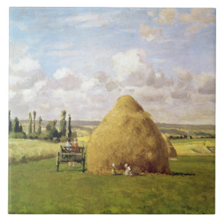 The haystack, Pontoise, 1873 Ceramic Tile
