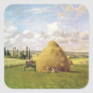 The haystack, Pontoise, 1873 Square Sticker