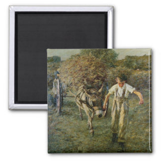 The Haywain, c.1889 (oil on canvas) 2 Inch Square Magnet