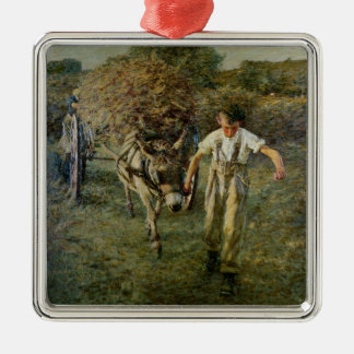The Haywain, c.1889 (oil on canvas) Metal Ornament
