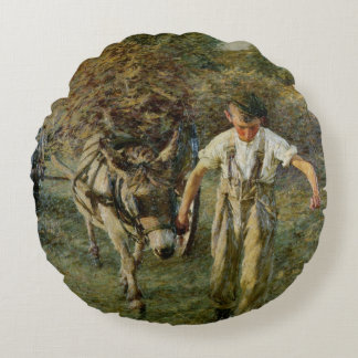 The Haywain, c.1889 (oil on canvas) Round Pillow