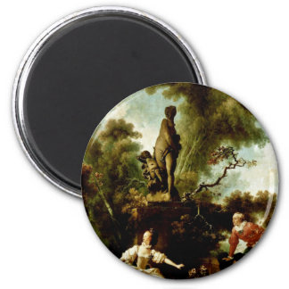 """The Head"""" By Fragonard Jean-Honoré (Best Quality) 2 Inch Round Magnet"""