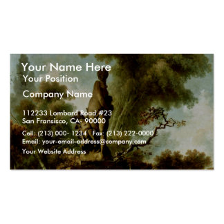 "The Head"" By Fragonard Jean-Honoré (Best Quality) Business Card Template"