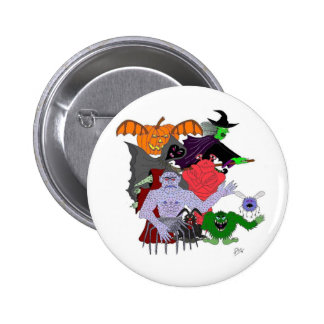 The Head Ghoul and friends Pinback Buttons