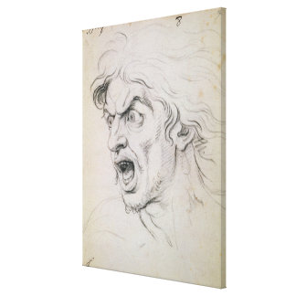 The head of a man screaming in terror, a study for canvas print