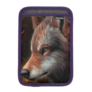 The head of a wolf painting. sleeve for iPad mini