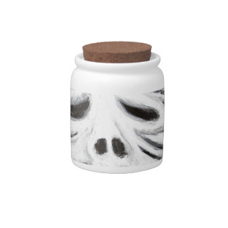 The Head of Leviathan (black and white surrealism) Candy Jars