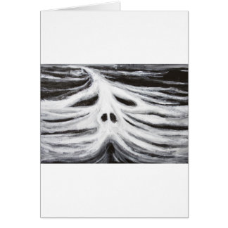 The Head of Leviathan (black and white surrealism) Cards