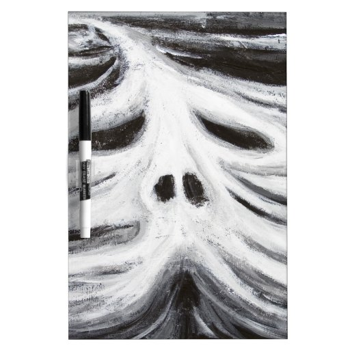 The Head of Leviathan (black and white surrealism) Dry-Erase Boards
