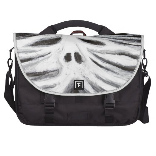 The Head of Leviathan (black and white surrealism) Computer Bag