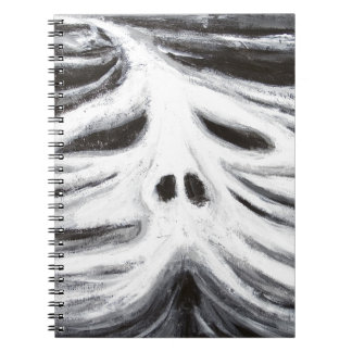 The Head of Leviathan (black and white surrealism) Spiral Notebook