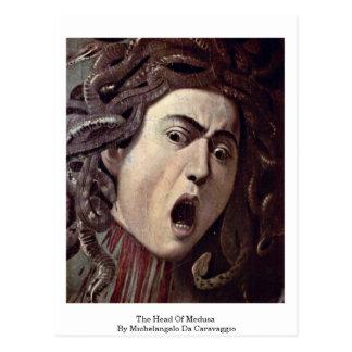 The Head Of Medusa By Michelangelo Da Caravaggio Post Card